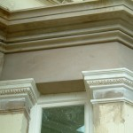 sand and cement in-situ run cornice