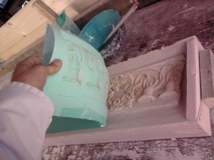 cornice insert detail, decorative plasterwork, fibrous plastering.