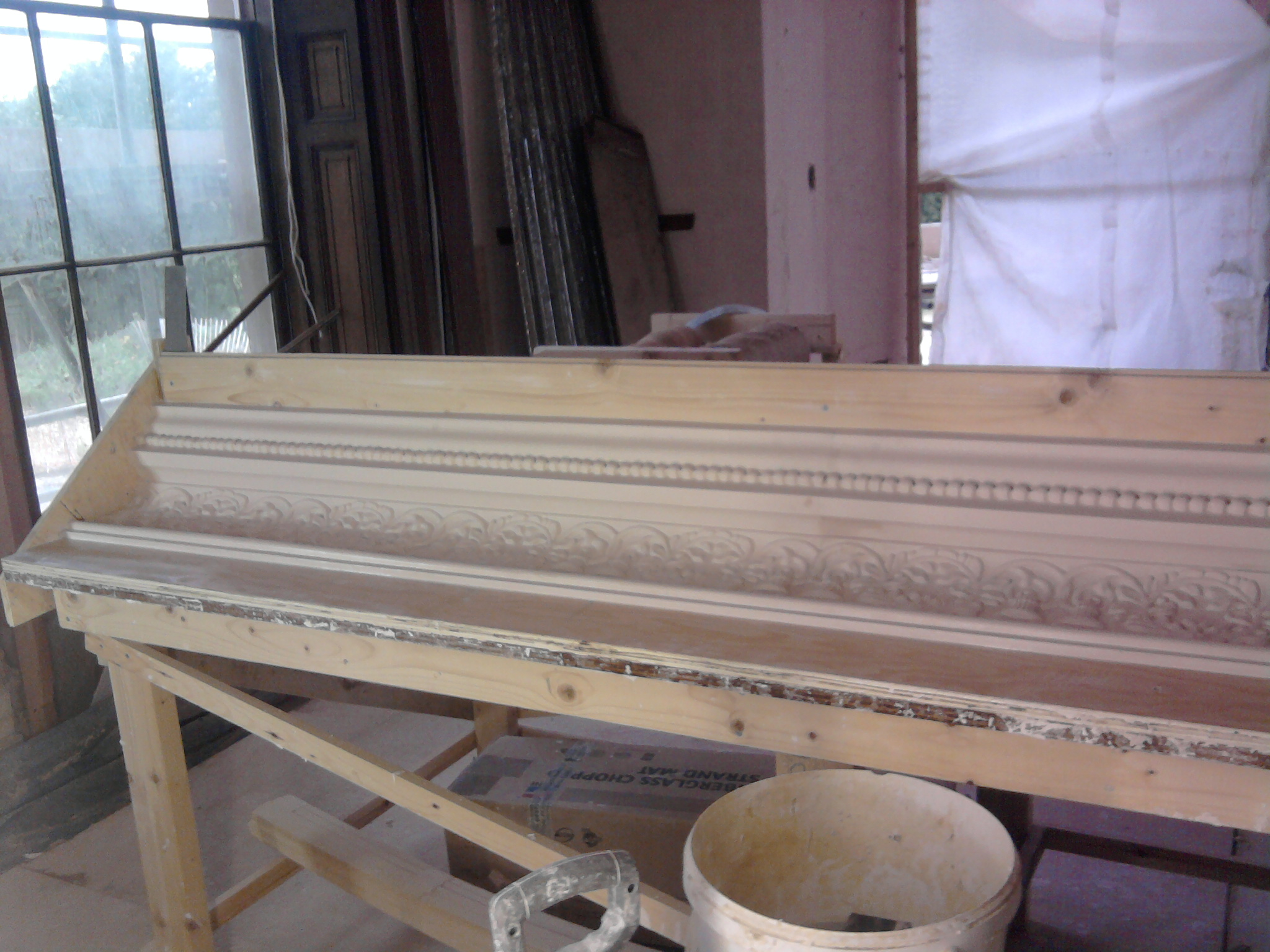 cornice prepared to create a Master Copy