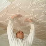 installing plaster tiles, decorative plasterwork, fibrous plastering.