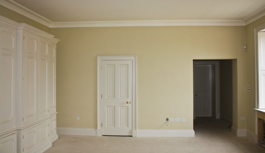 lime plastered-walls-ceilings-fitted-cornice