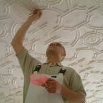 making good plaster tiles, decorative plasterwork, fibrous plastering.