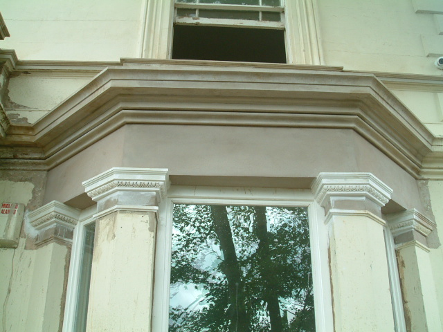 new bay cornice and column detail