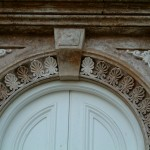 new plaster enrichment detail main entrance, decorarative plasterwork, fibrous plastering.