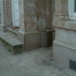 new plinth and mould around columns