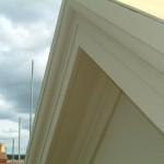cornice finished and painted