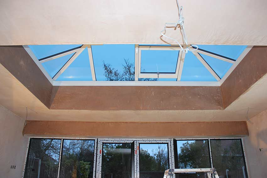 plastered-around-velux-skylight