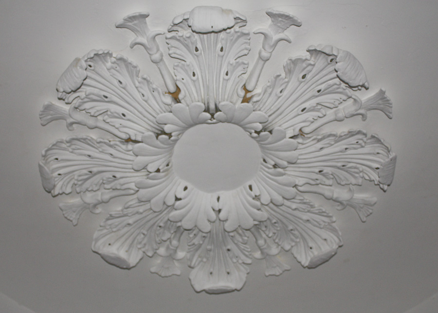 repaired ceiling rose