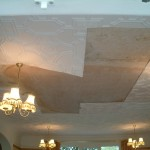 repaired ceiling afer flood damage