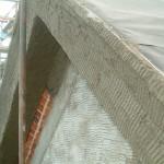 scratch coat applied pediment