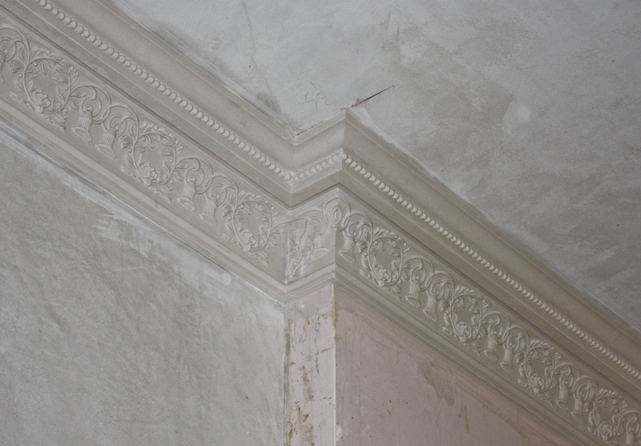 cornice fitted and mitred